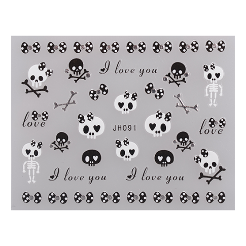 Nail Sticker JH091 Silber