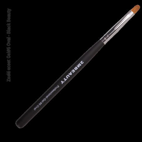 Synthetic Gel Pinsel Oval #6- Black Beauty