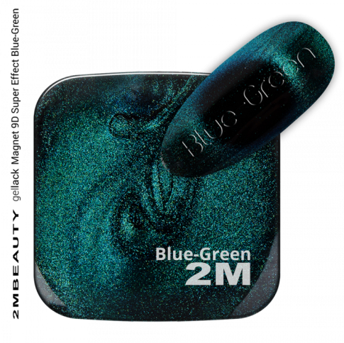 GEL LACK MAGNET 9D SUPER EFFECT BLUE-GREEN