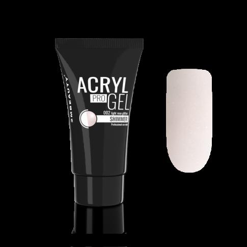 Acryl Pro Gel Shimmer 02- Light Rose Glitter