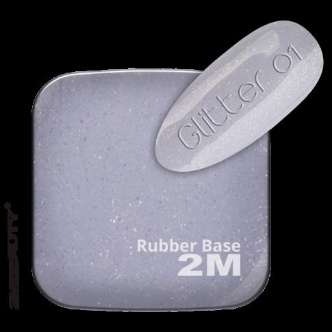 Gel Lack - Rubber Base Glitter 01